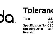 Tolerances for sawing and drilling in the US