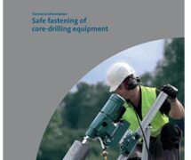 Safe fastening of core-drilling equipment